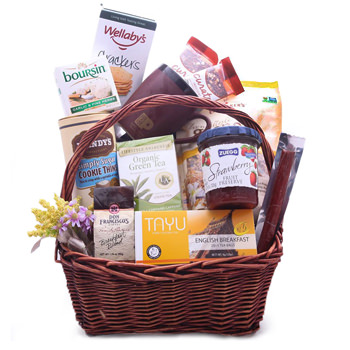 Insulele Cayman flori- Thoughtful Treats Gift Basket Floare Livrare