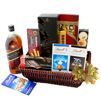 Cayman Islands bunga- Walk of Joy Gift Basket Bunga Penghantaran