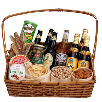 British Virgin Islands online Florist - Soul of Russia Basket Bouquet
