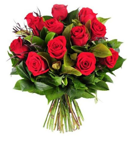 Saudi Arabia flowers  -  18 Red Roses Flower Delivery