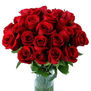 Uzbekistan flowers  -  30 Red Roses Flower Bouquet/Arrangement