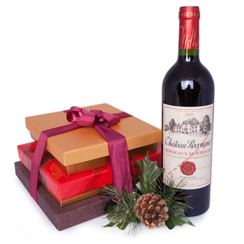 Bordeaux kedai bunga online - A Touch Of The Holidays Sejambak