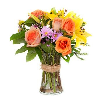Dominica online Florist - A touch of Fire Bouquet
