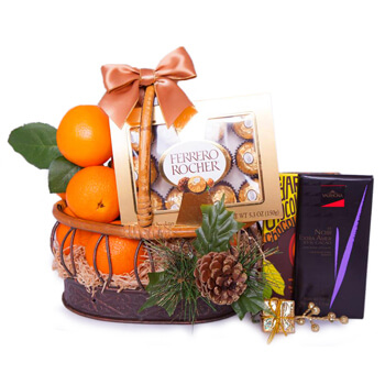 Basel online Florist - Basket Of Indulgence Bouquet