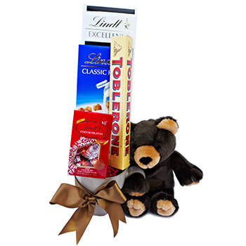 Cork flowers  -  Beary Special Gift Delivery