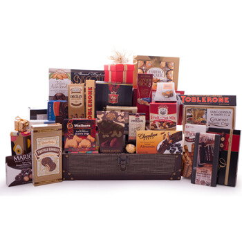 Wellington blomster- Chocolate Lovers Treasure Blomst Levering