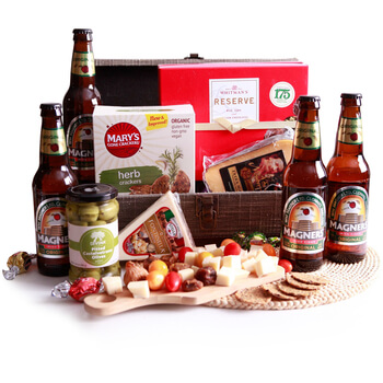 Milan flowers  -  Cider, Crackers and Cheese Baskets Delivery