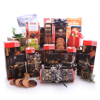 flowers  -  Cookies, Crisps and Chocolates Corporate Gift Baskets Delivery
