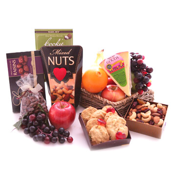 Bermuda flowers  -  Date Night Snacks Baskets Delivery