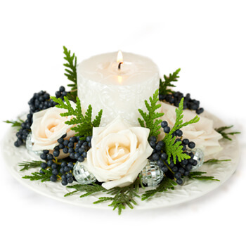 Bordeaux flowers  -  Festive Arrangement Flower Delivery