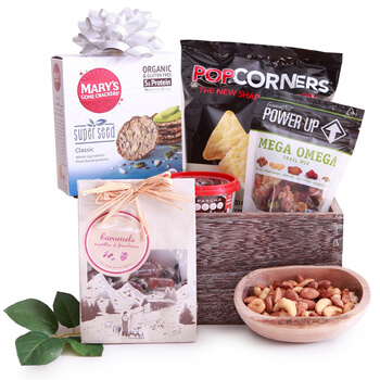 Bermuda flowers  -  Gluten Free Surprise Baskets Delivery