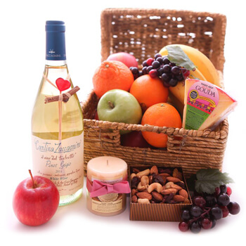 Italy flowers  -  Gourmet Date Night Baskets Delivery