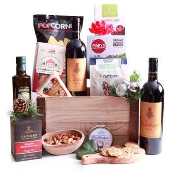 Portimao flowers  -  Happy Gluten Free Holidays Assortment Baskets Delivery