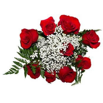 British Virgin Islands online Florist - Heart On Your Sleeve Bouquet