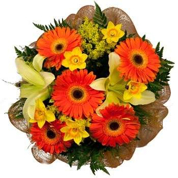Luxembourg flowers  -  Happiness Overflowing Display Baskets Delivery