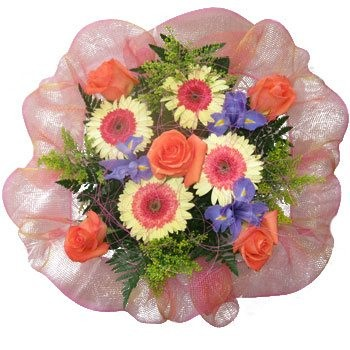 Belize blomster- Spirit of Love Bouquet Kurve Levering