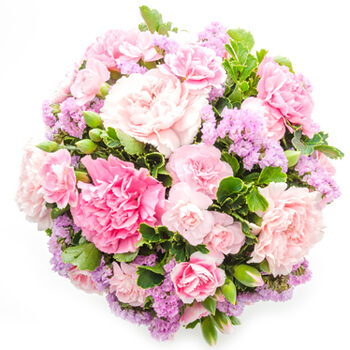 Luxembourg flowers  -  Peaceful Bouquet Baskets Delivery