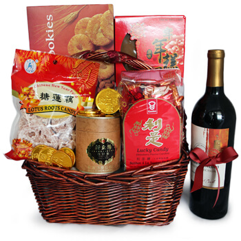 Italy flowers  -  Prosperity and Joy Baskets Delivery