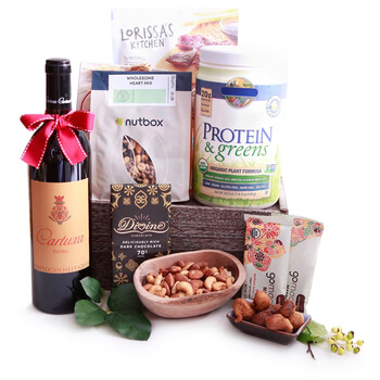 Italy flowers  -  Protein Packed Baskets Delivery