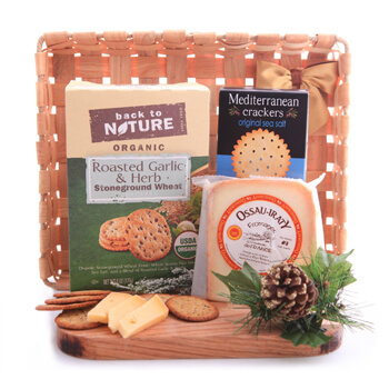 Luxembourg flowers  -  Quick Snack Gift Basket Flower Delivery