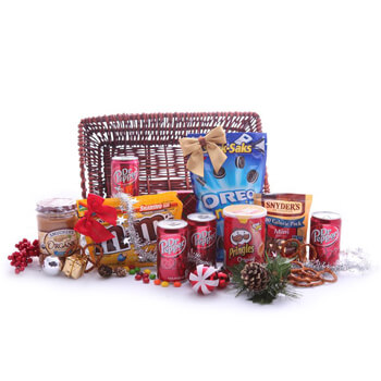 Vestmanna Fleuriste en ligne - Santas Secret Stash Bouquet