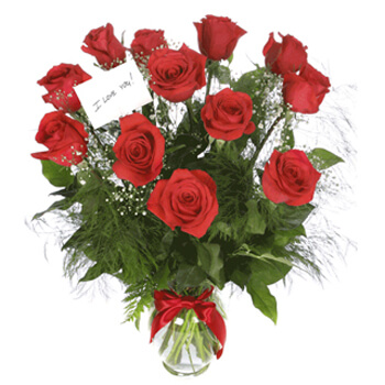 Milan flowers  -  Scarlet Elegance Baskets Delivery