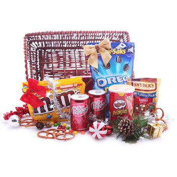 Milan flowers  -  Snackers Noel Baskets Delivery