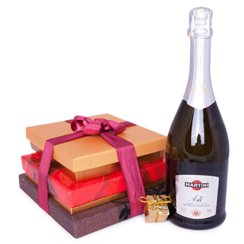 Italy flowers  -  Sparkling Chocolate Dreams Baskets Delivery