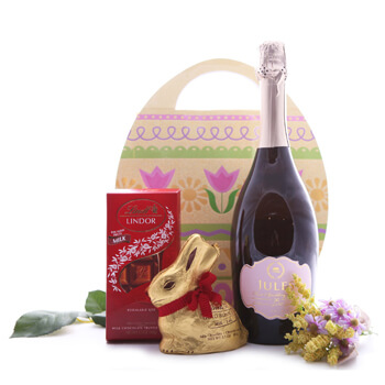 Saint Petersburg flowers  -  Sparkling Spring Gift Set Baskets Delivery