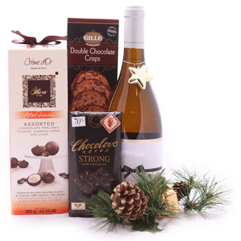 New Caledonia online Florist - Sweetest Holiday Toast Set Bouquet