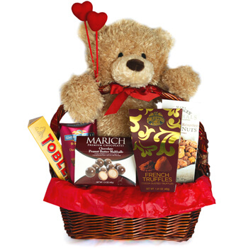 Italy flowers  -  The Love Story Baskets Delivery
