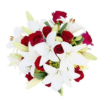 Dominica flowers  -  Traditional Love Flower Bouquet/Arrangement