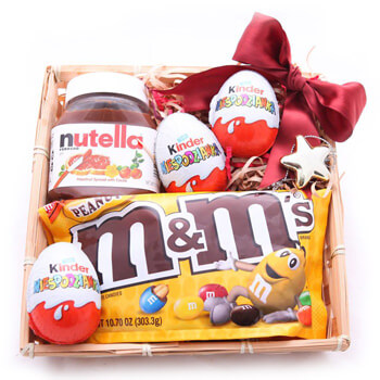 Mongolia online Florist - Treats for Three Kids Box Bouquet