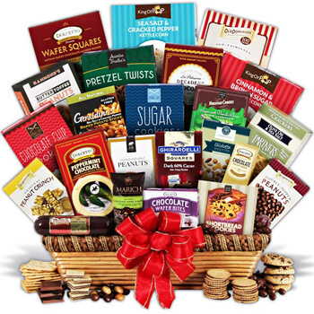 Luxembourg flowers  -  Turn Their Head Gift Assortment Baskets Delivery