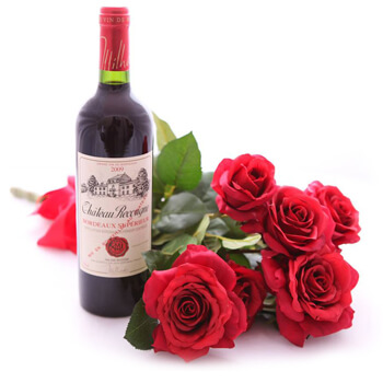 Aldea de Blowing Point Floristeria online - Valentine Red Ramo de flores