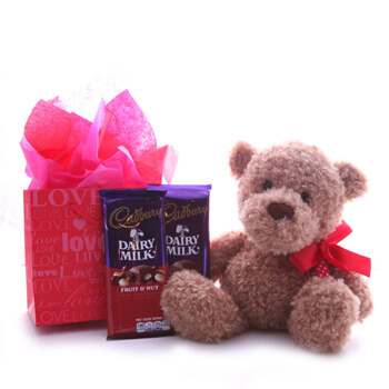 Laos online Florist - Sweet Bear Bouquet