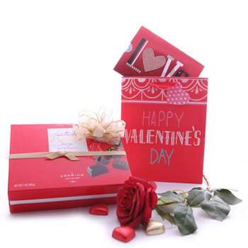 Midoun flowers  -  Elegant Chocolate Assortment Flower Delivery