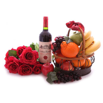 Rome flowers  -  Vibrant Valentine Baskets Delivery