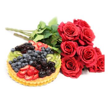 Italy flowers  -  Whispers Of Love Baskets Delivery