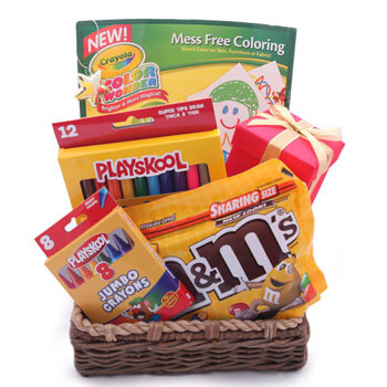 Sri Lanka blommor- Wonder and Joy Kids Basket Blomma Leverans