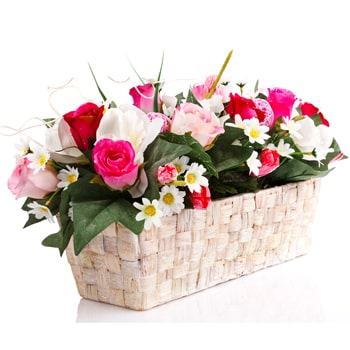 Oslo online Florist - Window Basket Bouquet