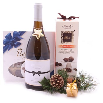 Ukraine flowers  -  A Toast with Truffles Baskets Delivery