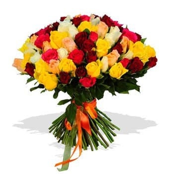 At-Bashi flowers  -  Abundant Passion Bouquet Flower Delivery