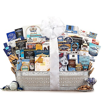 Houston bunga- All That Glitters Gift Basket Luar Biasa Keranjang Pengiriman