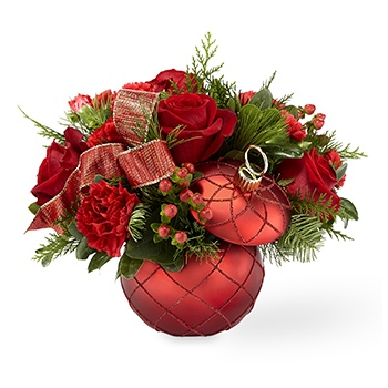 Los Angeles flowers  -  Amazing Holiday Carnations Baskets Delivery