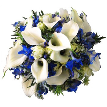 Norway flowers  -  Balance in Blue Bouquet Baskets Delivery