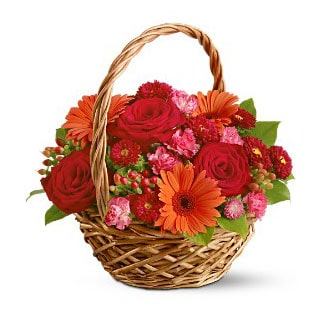 Oslo online Florist - Basket of Joy Flower Basket Bouquet