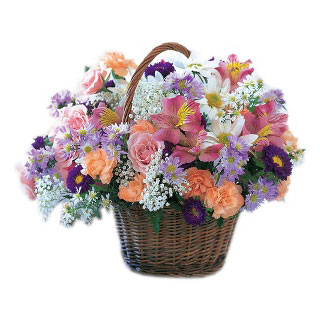 Norway flowers  -  Blooming Extravaganza Flower Basket Delivery