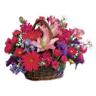 Oslo online Florist - Chic Blooms Flower Basket Bouquet