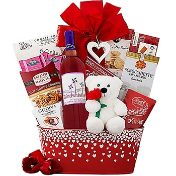 Arlington flowers  -  Romantic Valentine Assortment Baskets Delivery